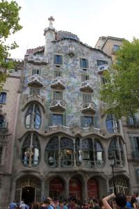 Знаменитые дома в в историческом центре Барселоны
